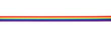 Rainbow Ribbon Isolated On White