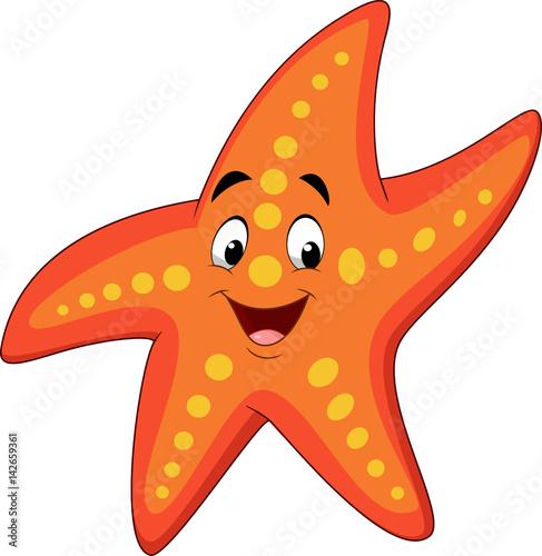 Obraz na plátně Cartoon happy starfish