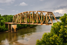 Rusty Old Railroad Bridge Over...