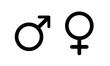 symbol mężczyzny i kobiety ikona