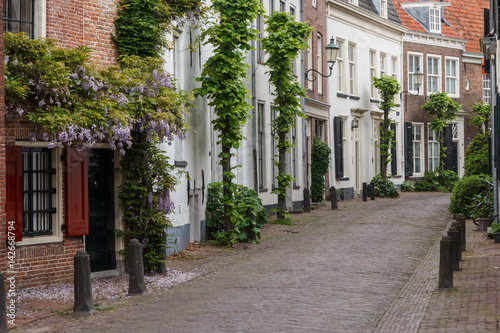 Street in the historic old town of Amersfoort, Netherlands Wallpaper Mural
