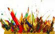 canvas print picture - Wilde Farbschmiererei oder abstrakte Kunst