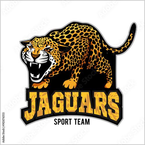 Photo jaguar mascot - emblem for sport team