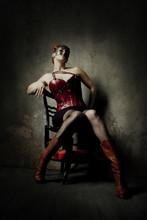 Woman In Steampunk Style