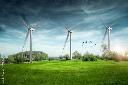 Fotografía  Eolienne énergie renouvelable