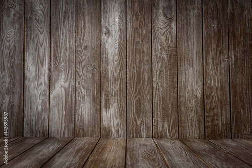 Dark wooden backdrop Canvas Print