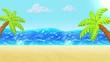 Ocean, Beach Sand. Background for summer design. Clay animation. 4K