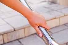 Woman Hand On Handrail