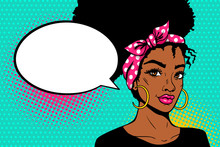 Pop Art Afro American Female F...
