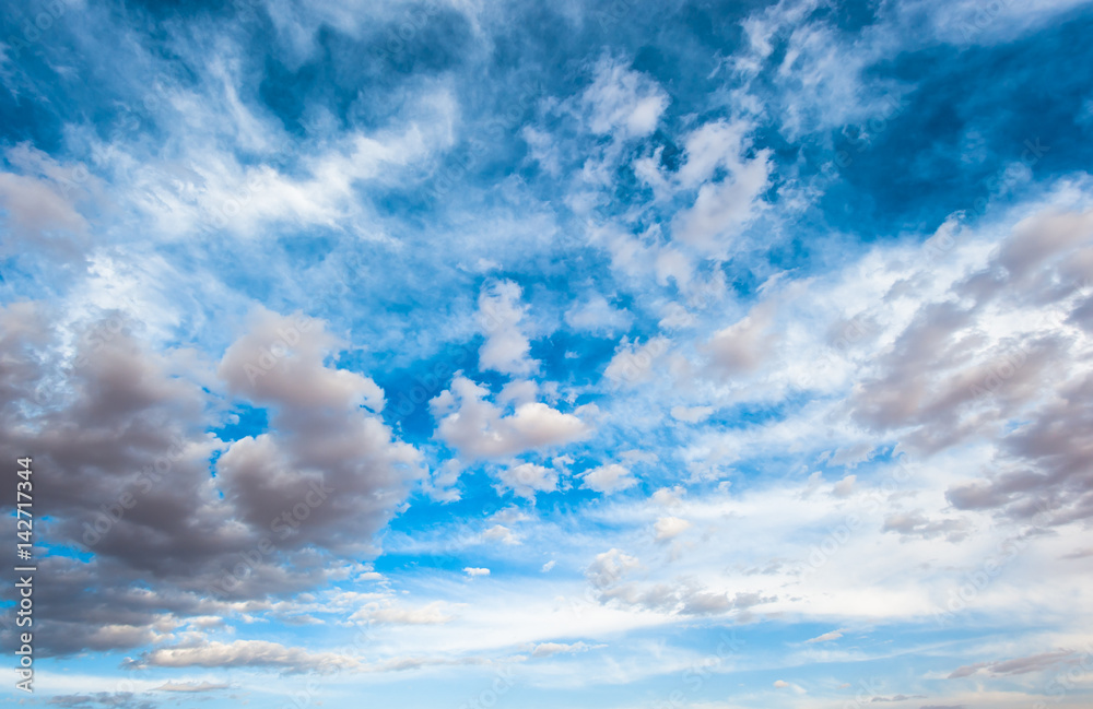 Fototapeta dramatic cloudy sky background