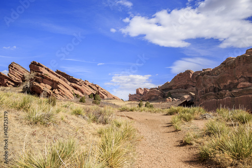 Hiking Trail at Red Rocks Park in Denver, Colorado