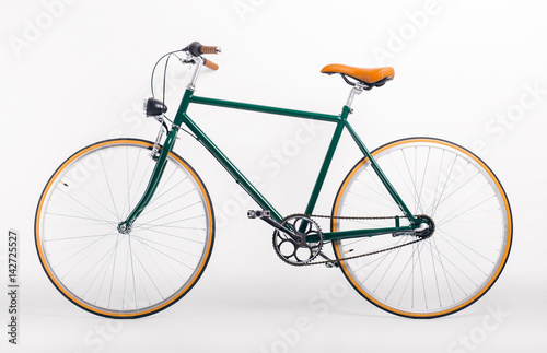 In de dag Fiets Vintage retro styled bicycle on white background