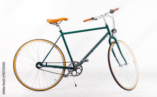 Recess Fitting Bicycle Vintage bicycle on white background