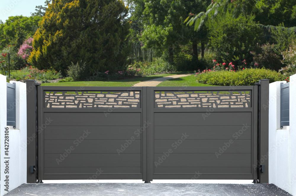 Fototapeta Portail métallique design