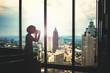 Taking pictues of Atlanta