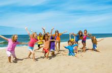 Active Happy Children On The B...