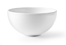 White Empty Bowl Isolated On W...