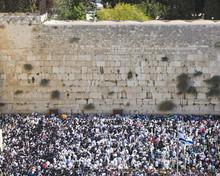 Jerusalem -  October 16: Prayer Of Jews At Western Wall. Jerusal