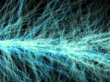 Branched Lightning Discharge - Blue Plasm