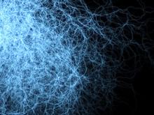 Branched Lightning Discharge - Blue Complex Plasm Threads