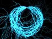 Branched Lightning Discharge - Cyan Round  Plasm