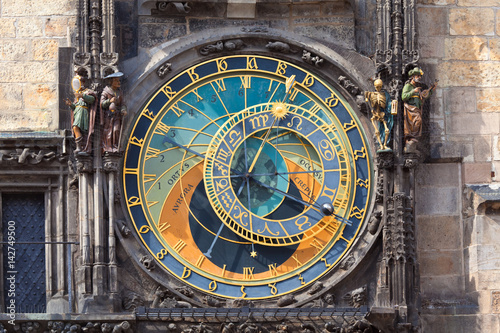 Prague Astronomical Clock, Czechia Canvas Print