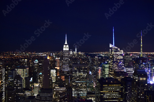 New York City (Taken from Helicopter) Canvas Print