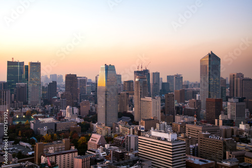 Fototapety, obrazy: 東京都心の夕景