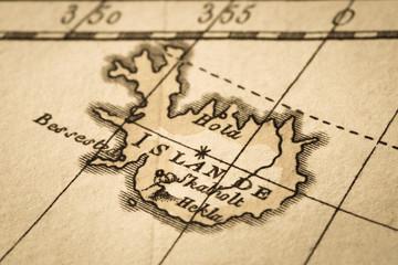 アンティークの古地図 アイスランド