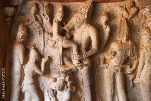 Fotografia, Obraz  Mahishasuramardhini Mandapam, Mahabalipuram, Tamil Nadu, India.