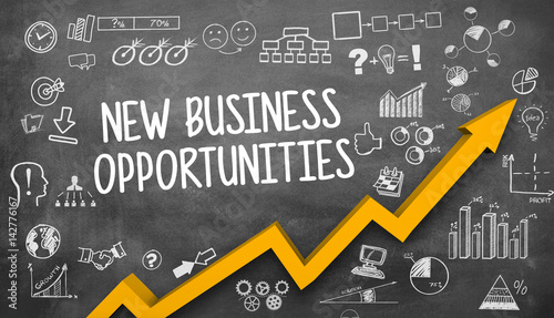 Fototapeta new business opportunities / Blackboard obraz