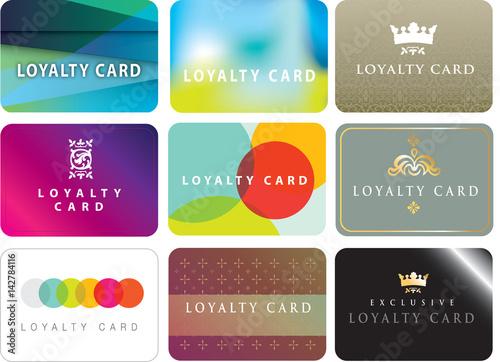 Fotografía  Range of ideas for store loyalty cards