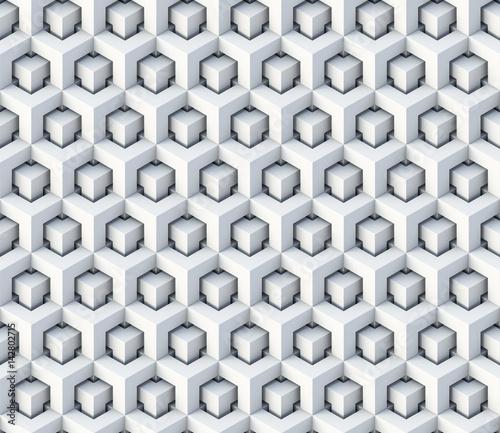 3d cubes seamless pattern ornament - 3d rendering background © Sashkin