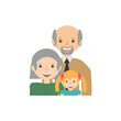 grandparents granddaughter family image vector illustration eps 10