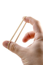 Male Hand Stretching Rubber Band