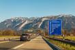 Autobahn A8 nahe der österreichischen Grenze
