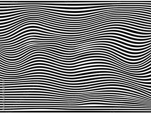 a6a6dfefe60 Black and White Seamless Striped Wave Vintage Background.Stripes black  warped.Black and white stripes.