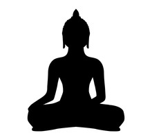Buddha Silhouette Vektor