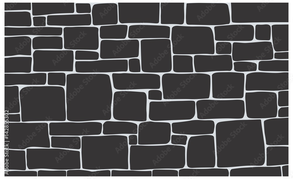 Fototapety, obrazy: Stone texture, brick background texture in vector