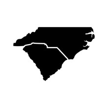 Carolina Map Logo Vector.