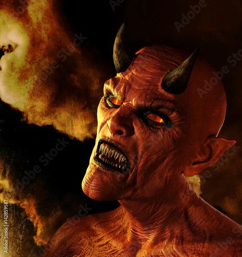 Foto  Dämon brennt in der Hölle