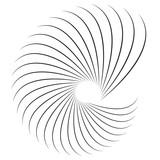Geometryczny kształt spirali. Motyw z okrągłymi elementami. Abstrakcjonistyczna geometryczna ilustracja. - 142863562