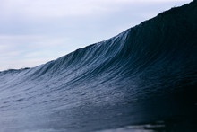 A Dark, Ominous Ocean Wave Loo...