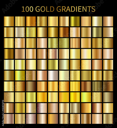 Photo  Gold gradients 100 big set