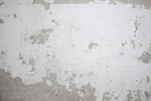 Peeling  White Paint On Old Wall