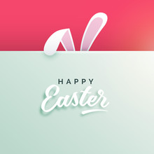 Happy Easter Background With B...