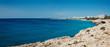 Panorama crystal clear Cyprus sea, Ayia Napa