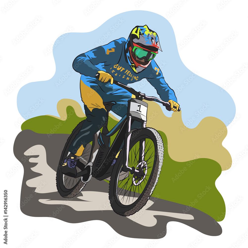 Downhill-Fahrrad Foto, Poster, Wandbilder bei EuroPosters