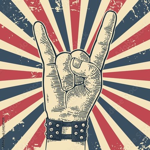 Fotografía Rock and Roll hand sign.