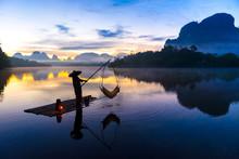 Fishing At Nong Talay In Krabi...